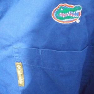 🐊Columbia College special edition Gator button up